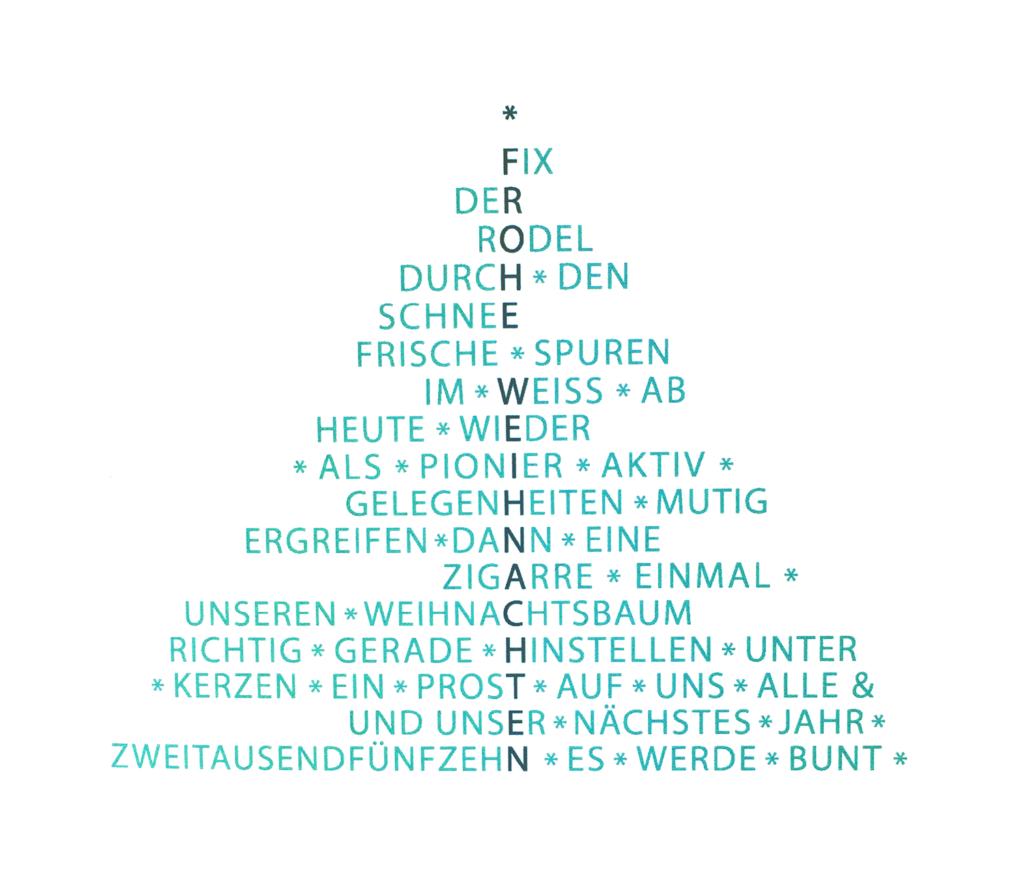 Weihnachtskarten W-Architekten von Louisa Fröhlich