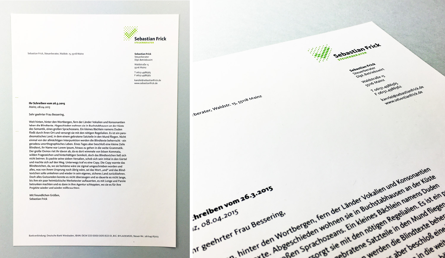 Sebastian Frick logo and corporate design by Louisa Fröhlich