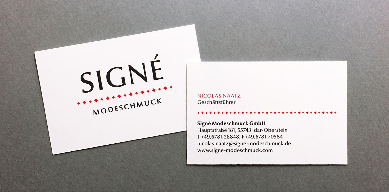 Signe Modeschmuck, Corporate Design, Logo Design, Louisa Fröhlich, Wiesbaden