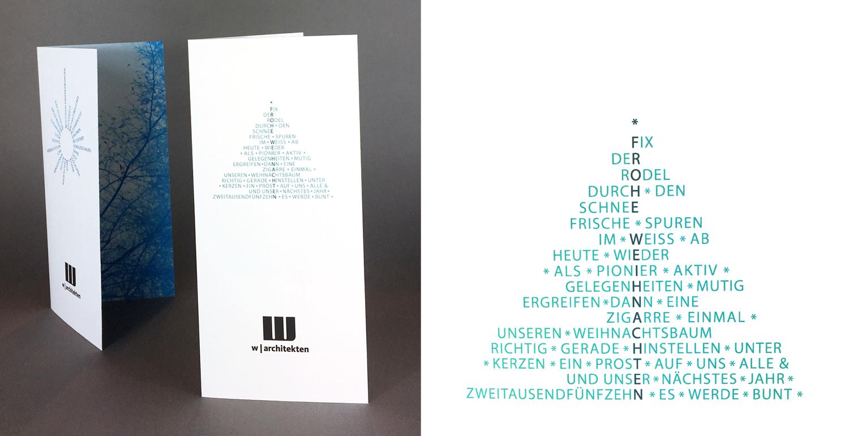 Corporate Design, Gestaltung Weihnachtskarten, Louisa Fröhlich, Wiesbaden